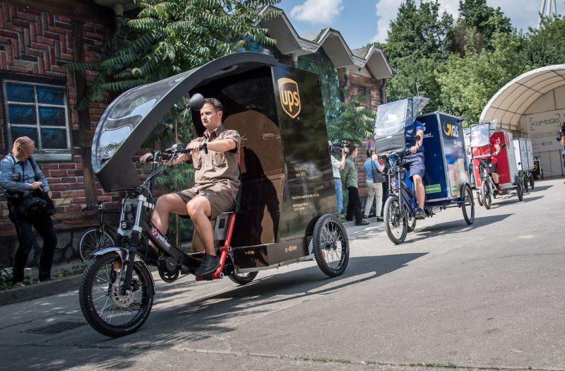Lastenfahrräder beim Pressetermin