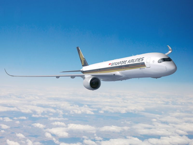 Ein A350 Ultra Long Range von Singapore Airlines
