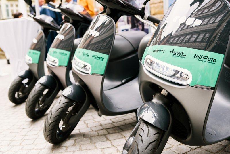 Für Tübingen: 30 eScooter von COUP finden sich zukünftig im Stadtzentrum für jeden zum Ausleihen.