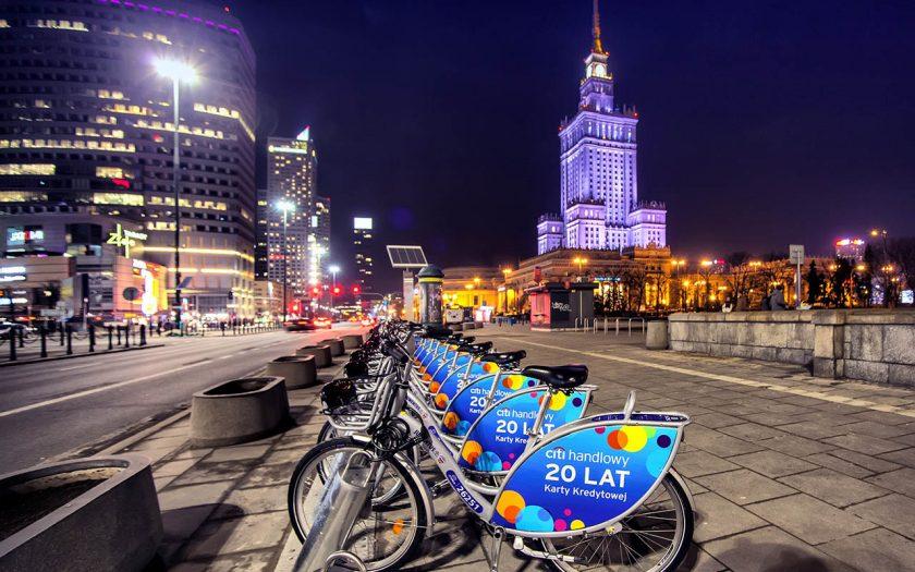Nextbike Fahrräder in Warschau